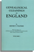Image for Genealogical Gleanings in England, Volume I