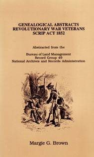 Image for Genealogical Abstracts Revolutionary War Veterans Scrip Act 1852