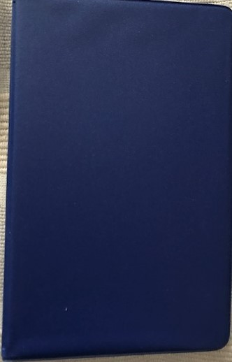 Image for Navy blue 1/2-inch, 6-ring mini binder